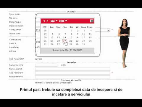 Online Banking UniCredit Tiriac Bank -- Direct Debit