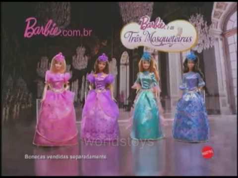2009 º Barbie y las tres mosqueteras 2 en 1 princesa/mosquetera comercial [ESP-LATINO]