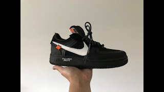 Off White Air Force 1 Black (Unboxing+Flaws+On Feet) from Footskicks.com