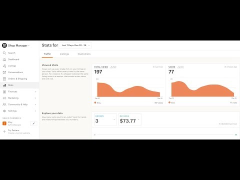 What Your Etsy Shop Stats Are Saying and Google Analytics Setup