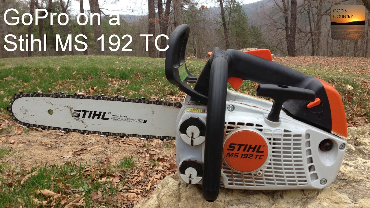 Gopro mounted on a stihl ms 192 tc cutting campfire wood - Stihl ms 192 t ...