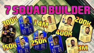 FIFA 19 SQUAD BUILDER 150K 200K 250K 300K 400K 1.4M 3M SQUAD BUILDER FUT CHAMPIONS FIFA 19