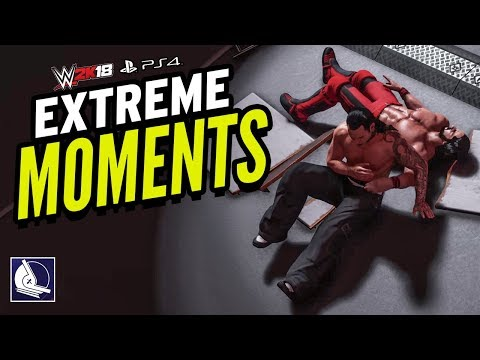 WWE 2K18 Jeff Hardy Extreme Moments (Epic Moments in the game)