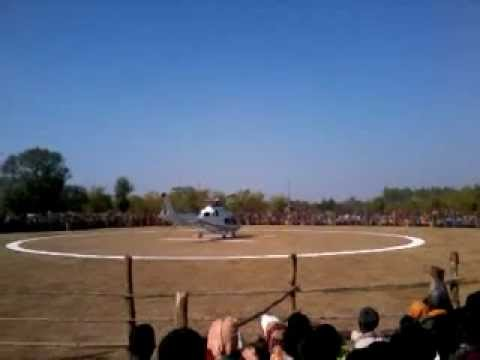 CM Raman Singh helicopter takes off after program