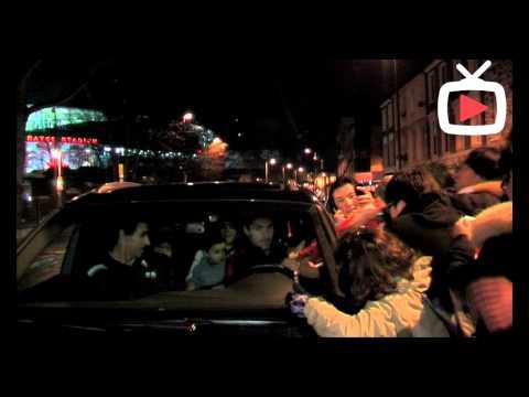 Mikel Arteta After The Game - Driving As Fans Mobbing His Car - ArsenalFanTV.com