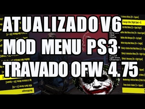 [ATUALIZADO] NOVO MOD MENU GTA 5 1.25 PS3 TRAVADO v6 NO JAILBREAK MOD MENU