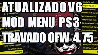 [ATUALIZADO] NOVO MOD MENU GTA 5 1.25 PS3 TRAVADO v6 NO JAILBREAK MOD MENU