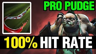 100% HIT RATE - PRO PUDGE - Dota 2