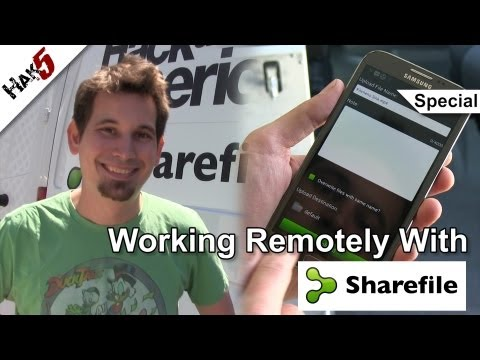 Sharefile to publish video blogs - working from anywhere on Hack Across America, Hak5 1413.4