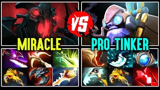 Crazy Fast Hands Pro [Tinker] vs Miracle Insane Right Click [Shadow Fiend] Dota 2