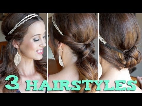3 easy back to school hairstyles using a headband   youtube