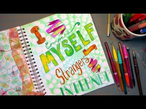 I Will Not Compare Myself to Strangers on the Internet Art Journal page