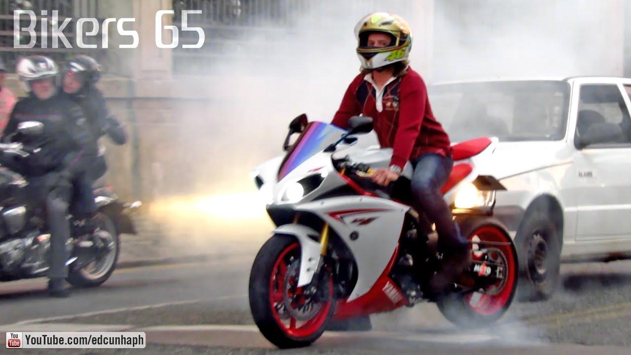 yamaha r1 burnout s1000rr rl cbr zx6r and r6 wheelie