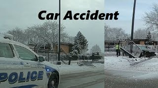 Car Accident By The Road _ Pretty Winter But Dangerous!