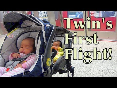 Twin's First Flight! - May 30, 2014 - itsJudysLife Daily Vlog