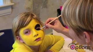 """#CraftyHalloween - Pokemon """"Pikachu"""" Face Painting Tutorial"""