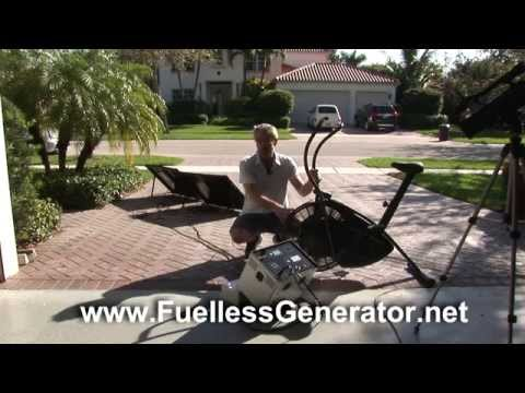 Charging Lion Energy L-1500 Fuelless Solar Generator With Generator Bike - Cycle