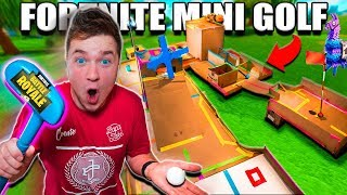 FORTNITE MINI GOLF BOX FORT!! 📦⛳️Papa Jake Vs Logan CHALLENGE