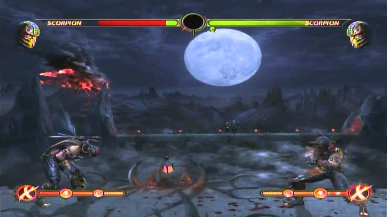 Scorpion 60 midscreen combo in mortal kombat 9 demo for ps3 youtube