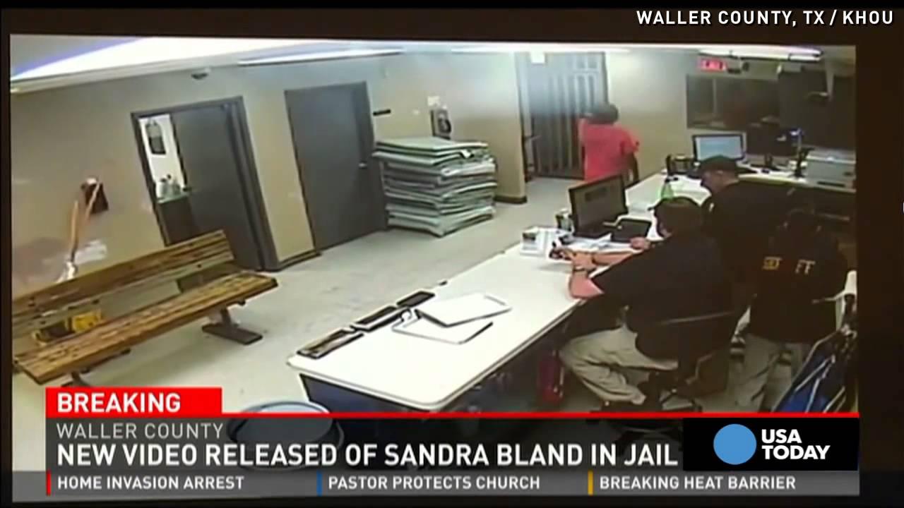 New Sandra Bland video shows her alive during mugshot