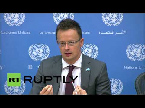 """UN: """"This is not a refugee crisis"""" - Hungary FM tells reporters at UN"""