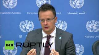 "UN: ""This is not a refugee crisis"" - Hungary FM tells reporters at UN"