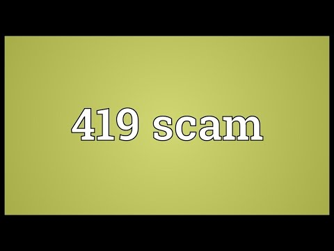 Header of 419 Scam