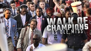 Watch Alabama arrive for the Walk of Champions before facing Ole Miss