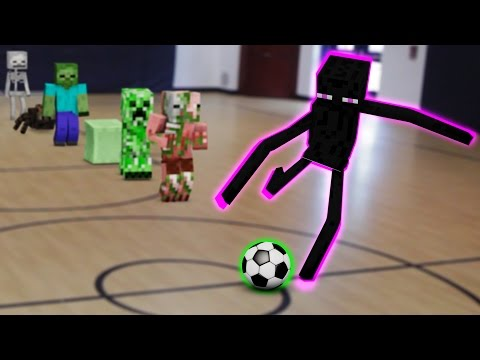 Monster School In Real Life Episode 4: Soccer - Minecraft Animation