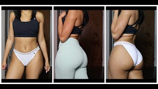DOES GYMSHARK LEGGINGS FIT THICK GIRLS? + UNDIES HAUL | TRY ON 2019