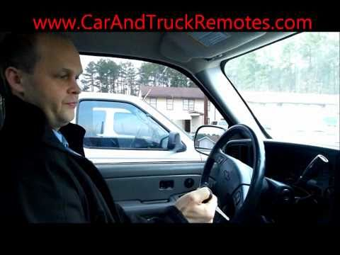 How to Program Keyless Remote for GM trucks and SUVs - FREE
