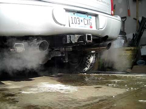 dodge durango   flowmaster super   pipe dual exhaust youtube