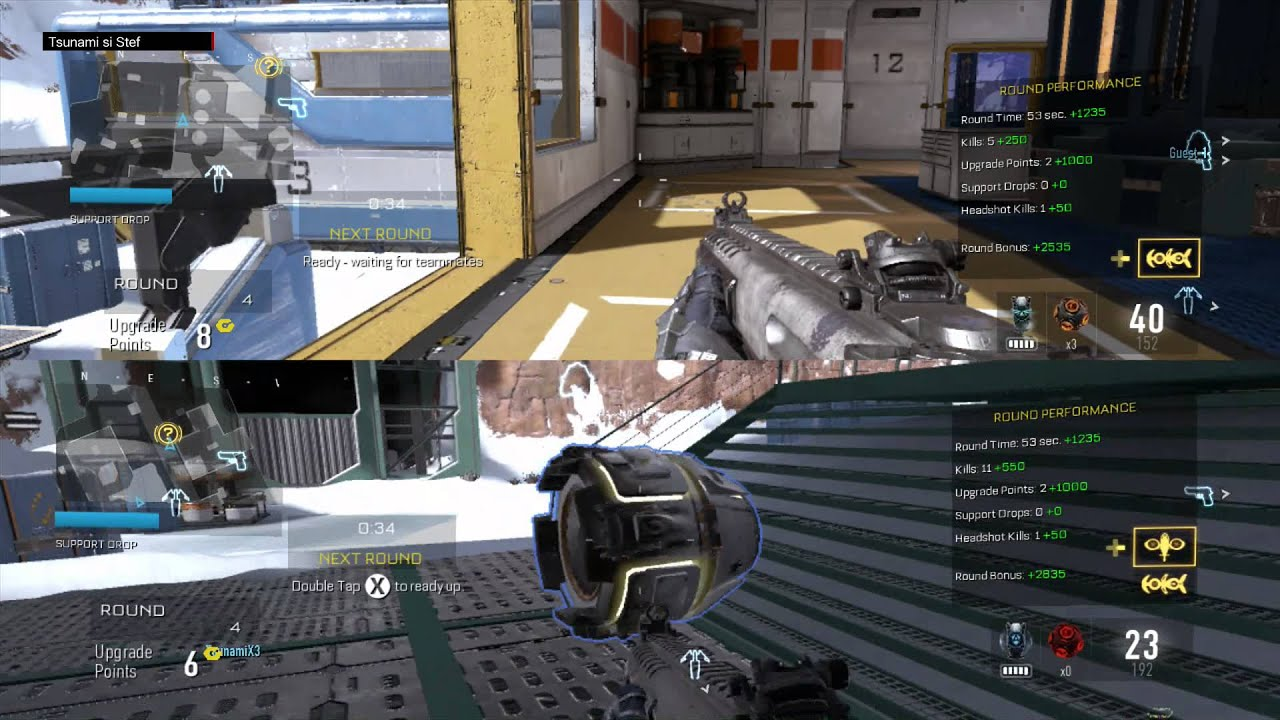 call of duty advanced warfare splitscreen gameplay