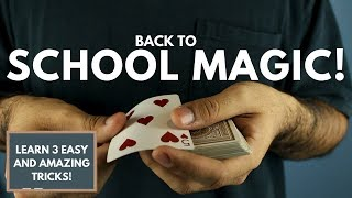 3 AMAZING and EASY Magic Tricks ANYONE CAN DO!   Back to SCHOOL MAGIC