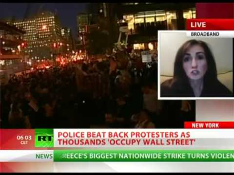 Police beat back Occupy Wall Street protesters, dozens arrested