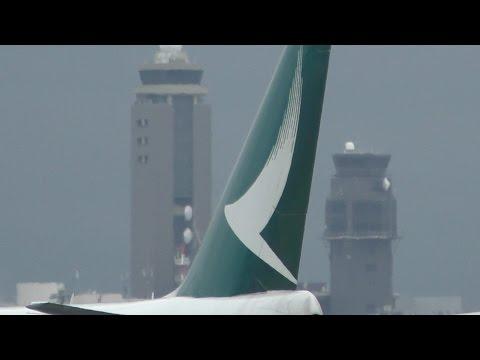 ✈New livery Cathay Pacific Cargo B747 B-LIB takeoff @Narita Airport rwy34L(成田空港/WX970M)