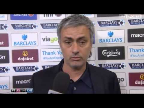 Aston Villa 1 Chelsea 0 : Jose Mourinho post match reaction