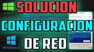 La Funcionalidad Del Adaptador De Red no coincide con los requisitos de la red W8 / 8.1
