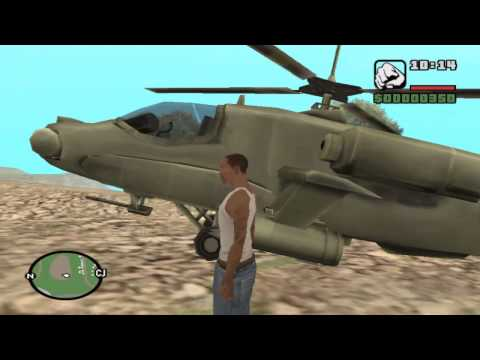 APARECER HELICOPTERO EN GTA SAN ANDREAS  PC 2014