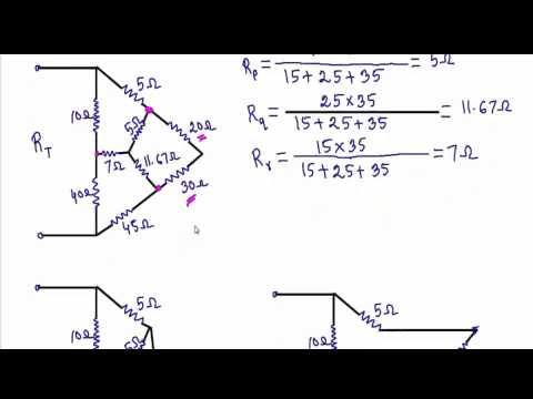 Delta - Wye(∇-Y) & Wye - Delta ( Y-∇ )Transformation: Example 3 (Very Very Hard)