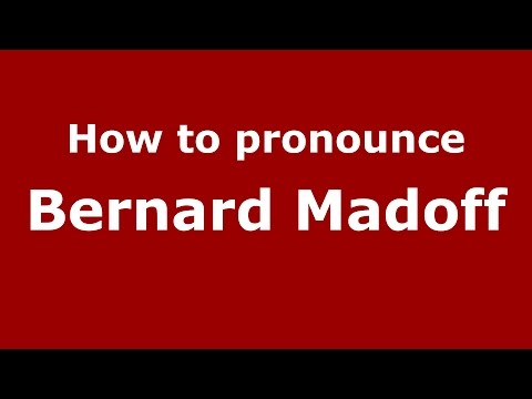 How to pronounce Bernard Madoff (American English/US) - PronounceNames.com