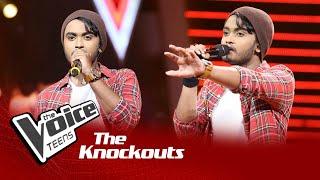 Ayesh Perera   Arambumama Kandulak Wela Knockouts   The Voice Teens Sri Lanka