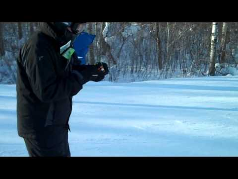 Watch Rubik's Cube solve while skiin