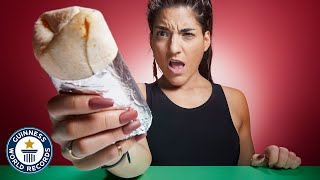 Fastest time to eat a burrito! - Guinness World Records