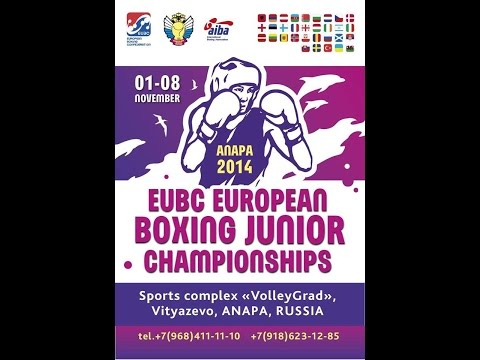 EUBC European Junior Boxing Championships - Anapa 2014 - Day 4 - Daily Session 14 - Ring B