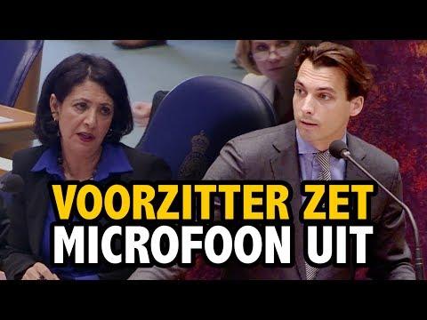Kamervoorzitter zet MICROFOON Baudet UIT