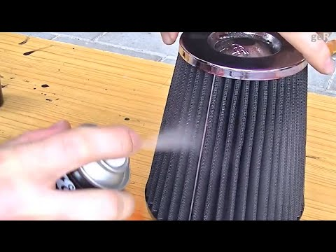 HOW TO CLEAN+REOIL K&N AIR FILTER QUICK+DETAIL  RECHARGE COLD INTAKE  COTTON CLEANING+OILING SERVICE