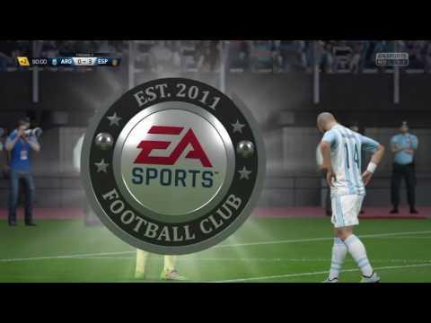 Alvaro Morata scores from Outside the box against Argentina Fifa 16 17