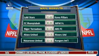 Sports This Morning: NPFL League Fixtures,Results, Games Analysis In Focus