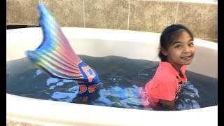 Shimmer N Sparkle DIY Scented Bath Fizzies + Surprise Toys + Mermaid | Toys Academy